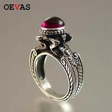 vintage thai silver color ring fashion mermaid stone