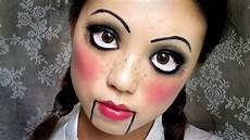 maquillage facile qui fait peur easy makeup creepy doll 中文字幕