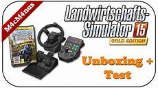 saitek ls15 lenkrad unboxing test landwirtschaft