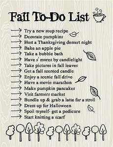 Fall To Do List Time For The Important Things