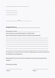 Kündigung Mietvertrag Vorlage Zum Ausdrucken - kostbare k 252 ndigung mietvertrag vermieter vorlage