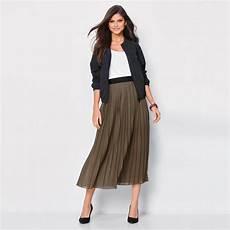 jupe longue pliss 233 e taille 233 lastique femme kaki 3 suisses