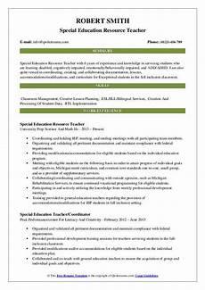 resource teacher resume sles qwikresume
