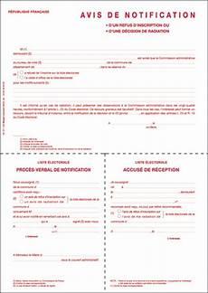 Avis De Notification D Un Refus D Inscription Ou D Une