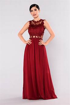 halley lace maxi dress wine