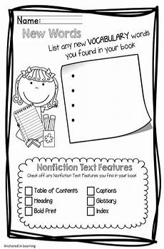 writing fiction worksheets 22272 nonficiton graphic organizers mini set grade reading nonfiction activities reading lessons