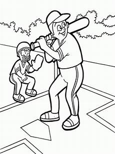 page baseball coloring pages free