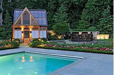 modern glass house open landscaping decorations 25 pool houses to complete your backyard retreat