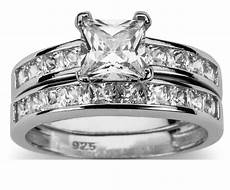 his and hers sterling silver wedding ring looks real