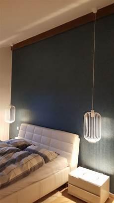 Schlafzimmer Beleuchtung Mit Pendelleuchten Neben Dem Bett