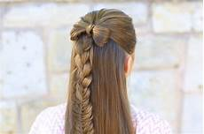 half up bow combo cute hairstyles