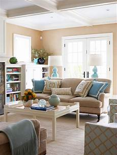 sand color walls placid blue accents interiordesign in