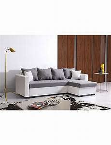 canape gris blanc canap 233 d angle 171 marty 187 blanc gris