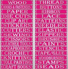 craft storage labels craft room ideas organization