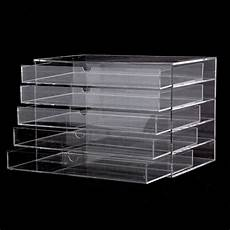Clear Storage Drawers by 5 Drawer Makeup Cosmetics Organizer Clear Acrylic Drawers