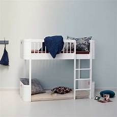 hochbett halbhoch oliver furniture halbhohes hochbett mini wood collection