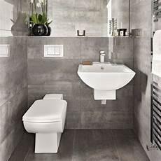 Bathroom Suites Ideas A Grey Bathroom With A Floating Suite Bathroom Suites