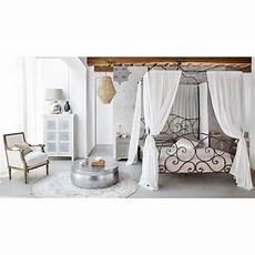 letto baldacchino maison du monde letto marrone a baldacchino 140 x 190 in metallo
