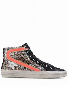 golden goose deluxe brand slide glitter high top sneakers