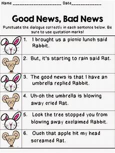 dialogue punctuation worksheet 4th grade 20954 teaching in the net what did the rat say