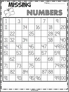 free spring 100s chart missing numbers worksheet