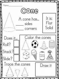 shapes attributes worksheets 1035 3d shapes attribute worksheets by surviving kindergarten tpt