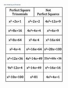 completing the square perfect square trinomial