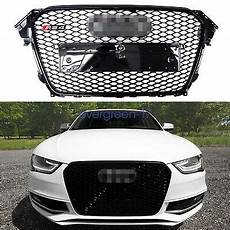 rs4 style front grille gloss black frame fits 13 16 audi a4 s4 b8 5 122 99 picclick