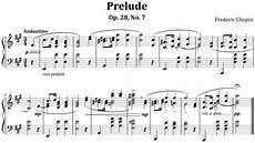 an exle of modern musical notation prelude op 28 no 7 by frederic chopin