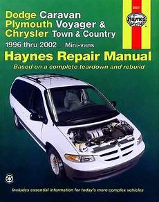 auto manual repair 1998 dodge caravan parental controls dodge caravan plymouth voyager chrysler town country 1996 2002 1563924692 9781563924699