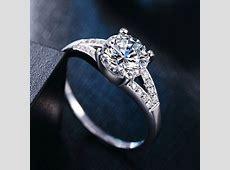 Stunning Lab Created Diamond Rings Cheap Halo Engagement