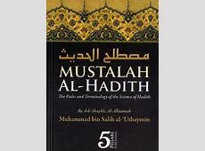Mustalah Al Hadith   The Rules and Terminology of the