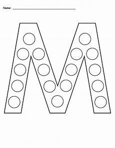 printable dotted letter worksheets 23751 letter m do a dot printables uppercase lowercase supplyme