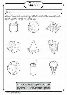 solid shapes worksheets for grade 1 1267 maths geometry solids free worksheet math geometry free worksheets
