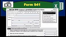 form 941 quarterly payroll tax form how fill out youtube