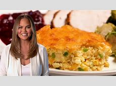 Chrissy Teigen Makes Jalapeño Cheddar Corn Pudding   YouTube