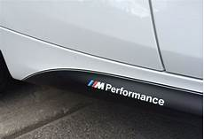 2x bmw m performance side skirt white decal sticker logo