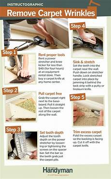 how to repair carpet removing wrinkles diy carpet