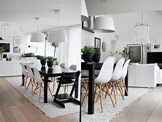 3 types of black and white dining room designs for inspiration roohome