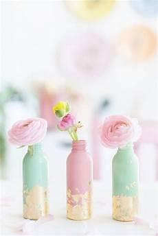 Diy Mini Vasen Mit Blattgold Con Im 225 Genes