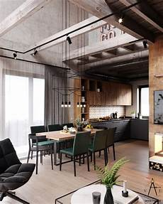 3 stylish and industrial inspired loft warm industrial style house with layout industrial