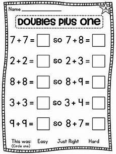 addition worksheets doubles 8821 a lot of great differentiated doubles and doubles plus one near doubles worksheets and