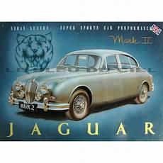pub voiture jaguar plaque publicitaire m 233 tal relief jaguar ii