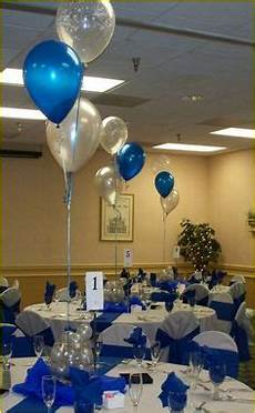 70th birthday centerpieces blue black white and silver centerpieces pinterest birthday