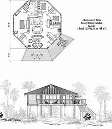 stilt house floor plans piling collection pg 0416 1135 sq ft 3 bedrooms 2