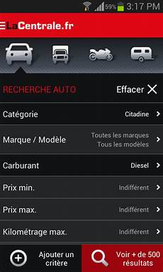 La Centrale Voiture Occasion Applications Android Sur