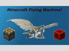 how to make a redstone flying machine