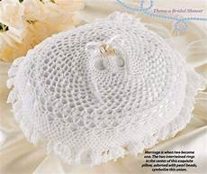 w039 crochet pattern only double wedding ring bearer pillow anniversary patterns contemporary