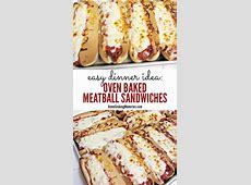 Easy Dinner Idea: Oven Baked Meatball Sandwiches Recipe