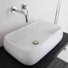 lavandino bagno rettangolare lavabo d appoggio a bacinella rettangolare 60x42 cm design